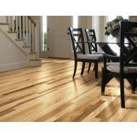 "Shaw Lucky Day  2 1/4"" Solid Hickory Hardwood Floor-00258 Rustic Natural"