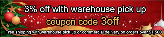 3% Off with Warehouse Pick Up